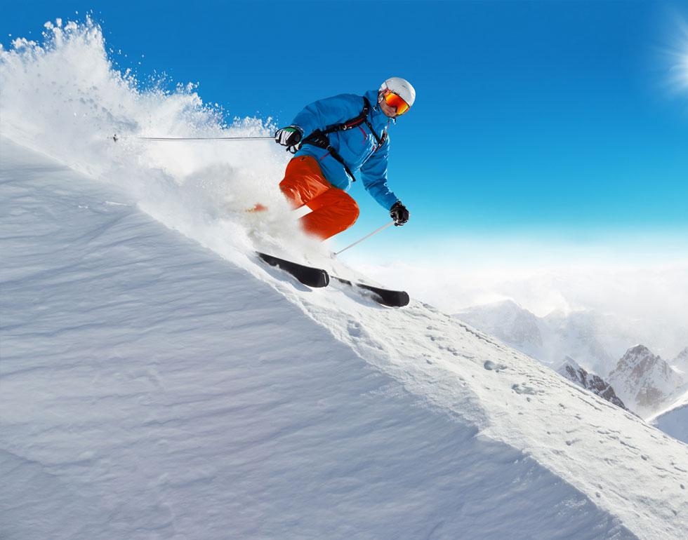Le sport du ski alpin